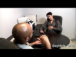Gay office oral job job