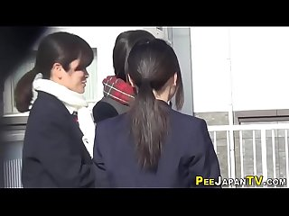 Japan students peeing