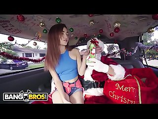 BANGBROS - Petite Teen Kiley Jay Giving Back To Santa Claus on Bang Bus