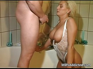 Bathroom anal sex with hot and wet