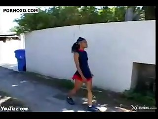 Black Cheerleader Getting Fucked.