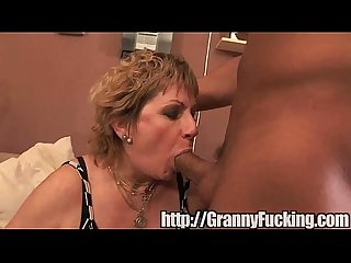 granny takes a dick deep inside