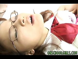 Yui shirasagi asian schoolgirl sucks cock and gets banged