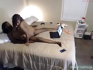 Big booty Thot fucked live on cam