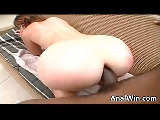 Woman Doing Anal Outdoors With A BBC