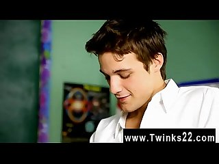 Twink video Krys Perez plays a insane professor who's nosey about the