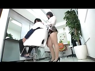 Asian female barber fingered by man in a haircut pt2 on hdmilfcam com
