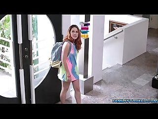 Gold digger Amarna Miller fucks with rich uncle