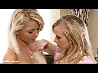 Gorgeous blondes bellina and anneli have hot lesbian fun on couch by sapphic ero