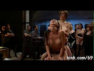 Sexy pretty girl fucked and dominated in real bondage excl