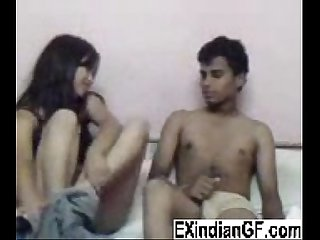 Indian teen couple at home