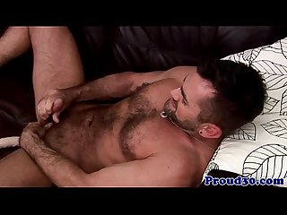 Hairy gay otters solo masturbation fun