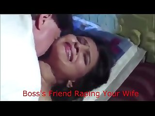 Indian wife forced by boss and his friend