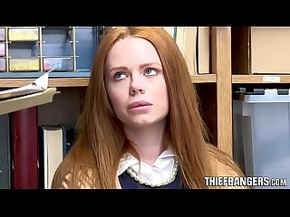 British Redhead Teen Thief Ella Hughes Caught & Punished