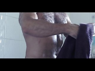 daddy bear stripping nude and taking a shower