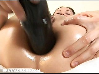 Tatiana brutal dildo ass stretching