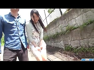 Misaki Oosawa blows dicks then fucks in perfect outdoor - More at javhd.net