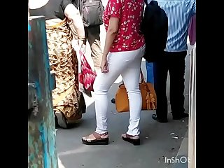 BIG ASS TEACHER SMITA IN WHITE TIGHT JEAN