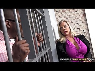 Amber lynn bach fucks a black guy in a prison