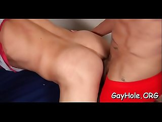Step dad pulls out jock for both his son and the lad's twink bf