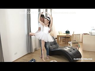 Teen Ballerina Makes a Pli? Over Huge Cock