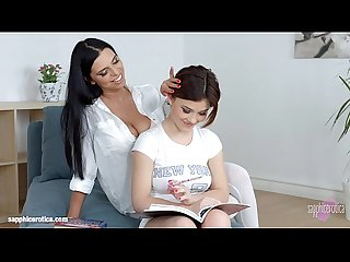 Lesson dreams by sapphic erotica sensual lesbian scene with kyra queen veronic