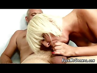 Old Cock Sucked By Hot Young Blonde