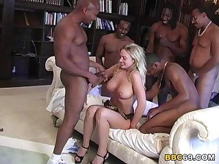 Savannah Gangbanged by Black Cocks