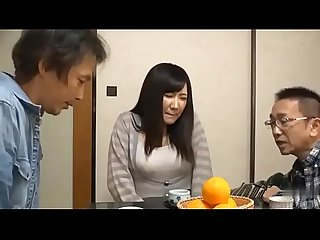 When Japanese Milf get fucked by man, her husband was busy working next door -..