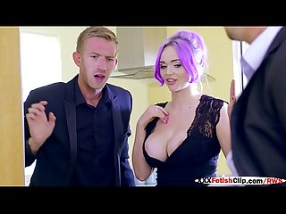 2 hot wifes jasmine james and skyler mckay in cheating dinner with 2 huge dick