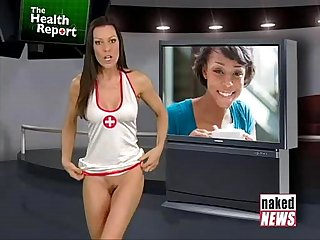 Valentina taylor gives you a sexy check up in naked news health