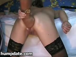 Kinky wife gets her ass fisted from behind