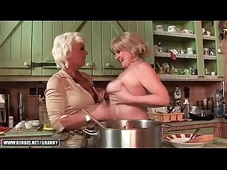 Two grannies and hot young blonde