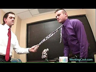 Hard working gay man in the office by workingcock