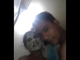 Indian couple bathroom sex