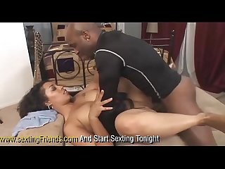 Big booty black housewife bangs the help