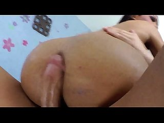 Nubian ebony tranny jumps on guys cock