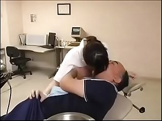 Dentist nurse sees the patient s erect penis causing a strong sexual Desire