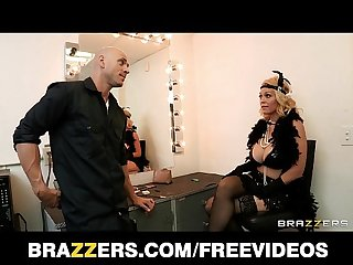 Busty blonde burlesque dancer charlee chase fucks a fan