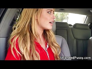 Hottie chick corinna gets pussy rammed in the car by the hot dude