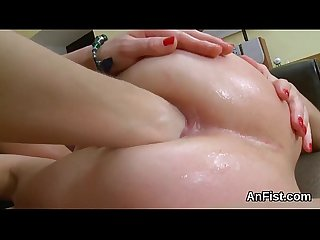 Wicked lesbo beauties are opening up and fist fucking anals