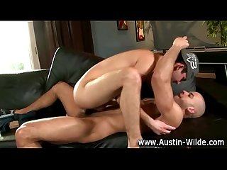 Hunky austin wilde slams tight ass