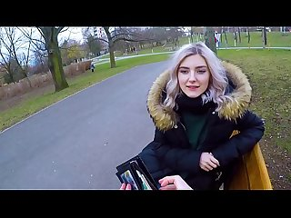 Cute teen swallows hot cum for cash extreme public blowjob by eva elfie
