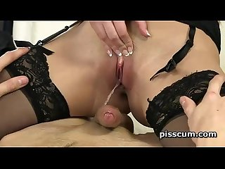 Hot paula shy riding cock and pissing on it