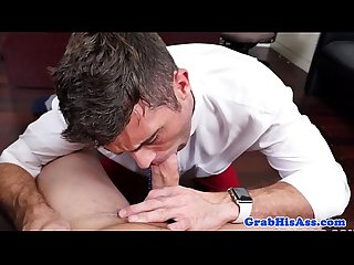 Male stripper triofucked after office party