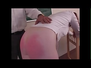 Spanking roleplay hot readhead gets punished during schoolgirl roleplay justbangme com