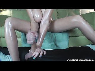 amazon girl gives handjob and footjob