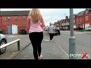 Pornxn big ass babe pissing in public on the street