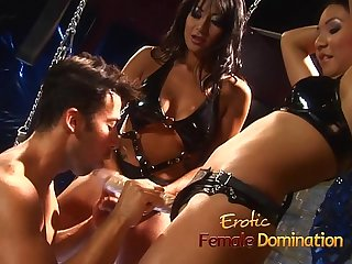 Mistress brandi lyons tests her slaves limits in a bdsm session 6