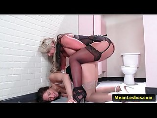 Hot and mean lesbian babes boss dominates horny employee with abella danger phoenix marie f